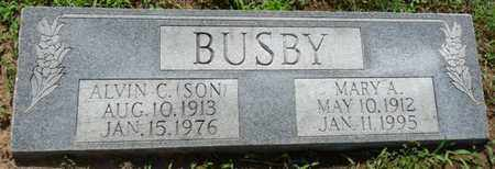 "BUSBY, ALVIN C ""SON"" - Osage County, Oklahoma | ALVIN C ""SON"" BUSBY - Oklahoma Gravestone Photos"