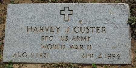 CUSTER (VETERAN WWII), HARVEY J - Osage County, Oklahoma | HARVEY J CUSTER (VETERAN WWII) - Oklahoma Gravestone Photos