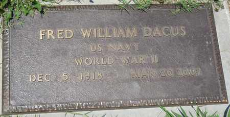 DACUS (VETERAN WWII), FRED WILLIAM - Osage County, Oklahoma | FRED WILLIAM DACUS (VETERAN WWII) - Oklahoma Gravestone Photos