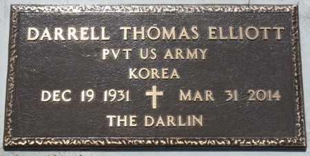 ELLIOTT (VETERAN KOREA), DARRELL THOMAS - Osage County, Oklahoma | DARRELL THOMAS ELLIOTT (VETERAN KOREA) - Oklahoma Gravestone Photos