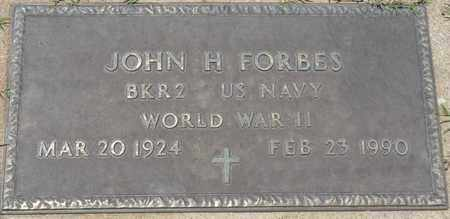 FORBES (VETERAN WWII), JOHN H - Osage County, Oklahoma | JOHN H FORBES (VETERAN WWII) - Oklahoma Gravestone Photos