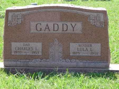 GADDY, CHARLES L - Osage County, Oklahoma   CHARLES L GADDY - Oklahoma Gravestone Photos