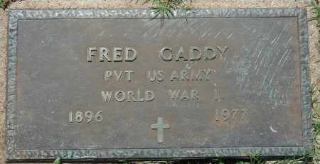 GADDY (VETERAN WWI), FRED - Osage County, Oklahoma | FRED GADDY (VETERAN WWI) - Oklahoma Gravestone Photos