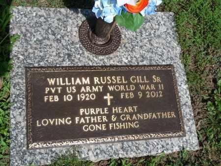 GILL SR. (VETERAN WWII), WILLIAM RUSSEL - Osage County, Oklahoma | WILLIAM RUSSEL GILL SR. (VETERAN WWII) - Oklahoma Gravestone Photos