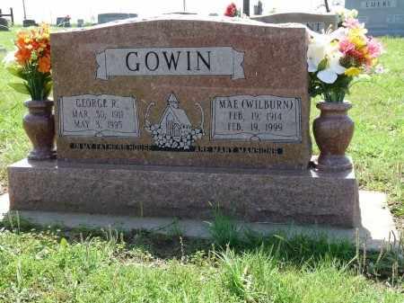 WILBURN GOWIN, MAE - Osage County, Oklahoma | MAE WILBURN GOWIN - Oklahoma Gravestone Photos