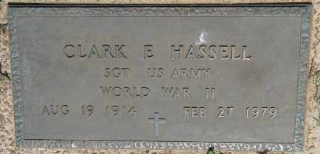 HASSELL (VETERAN WWII), CLARK E - Osage County, Oklahoma | CLARK E HASSELL (VETERAN WWII) - Oklahoma Gravestone Photos