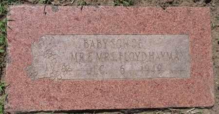 HAYMAN, INFANT SON - Osage County, Oklahoma | INFANT SON HAYMAN - Oklahoma Gravestone Photos