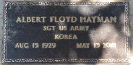 HAYMAN (VETERAN KOREA), ALBERT FLOYD - Osage County, Oklahoma | ALBERT FLOYD HAYMAN (VETERAN KOREA) - Oklahoma Gravestone Photos