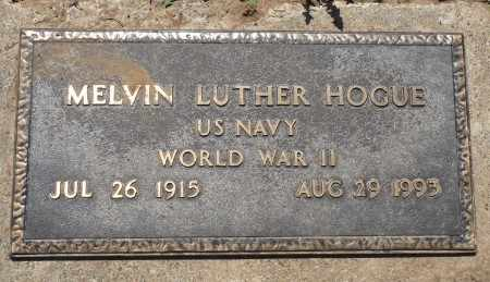 HOGUE (VETERAN WWII), MELVIN LUTHER - Osage County, Oklahoma | MELVIN LUTHER HOGUE (VETERAN WWII) - Oklahoma Gravestone Photos