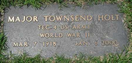 HOLT (VETERAN WWII), MAJOR TOWNSEND - Osage County, Oklahoma | MAJOR TOWNSEND HOLT (VETERAN WWII) - Oklahoma Gravestone Photos