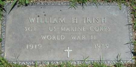 IRISH (VETERAN WWII), WILLIAM H - Osage County, Oklahoma | WILLIAM H IRISH (VETERAN WWII) - Oklahoma Gravestone Photos