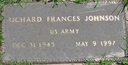 JOHNSON (VETERAN), RICHARD FRANCES - Osage County, Oklahoma | RICHARD FRANCES JOHNSON (VETERAN) - Oklahoma Gravestone Photos