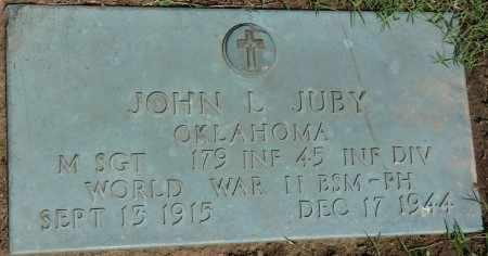 JUBY (VETERAN WWII), JOHN L - Osage County, Oklahoma | JOHN L JUBY (VETERAN WWII) - Oklahoma Gravestone Photos