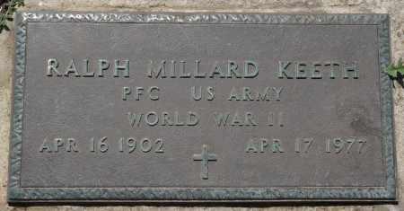 KEETH (VETERAN WWII), RALPH MILLARD - Osage County, Oklahoma | RALPH MILLARD KEETH (VETERAN WWII) - Oklahoma Gravestone Photos