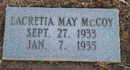 MAY MCCOY, LACRETIA - Osage County, Oklahoma | LACRETIA MAY MCCOY - Oklahoma Gravestone Photos