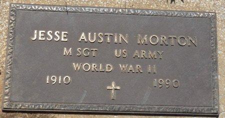 MORTON (VETERAN WWII), JESSE AUSTIN - Osage County, Oklahoma | JESSE AUSTIN MORTON (VETERAN WWII) - Oklahoma Gravestone Photos