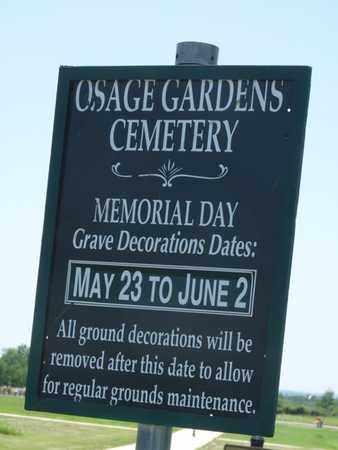 *OSAGE GARDENS, CEMETERY - Osage County, Oklahoma | CEMETERY *OSAGE GARDENS - Oklahoma Gravestone Photos