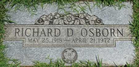 OSBORN, RICHARD D - Osage County, Oklahoma | RICHARD D OSBORN - Oklahoma Gravestone Photos