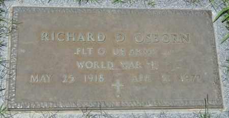 OSBORN (VETERAN WWI), RICHARD D - Osage County, Oklahoma | RICHARD D OSBORN (VETERAN WWI) - Oklahoma Gravestone Photos