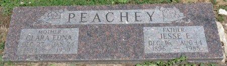 PEACHEY, CLARA EDNA - Osage County, Oklahoma   CLARA EDNA PEACHEY - Oklahoma Gravestone Photos