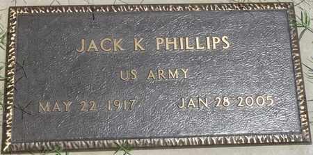 PHILLIPS (VETERAN), JACK K - Osage County, Oklahoma | JACK K PHILLIPS (VETERAN) - Oklahoma Gravestone Photos
