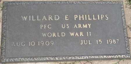PHILLIPS (VETERAN WWII), WILLARD E - Osage County, Oklahoma   WILLARD E PHILLIPS (VETERAN WWII) - Oklahoma Gravestone Photos