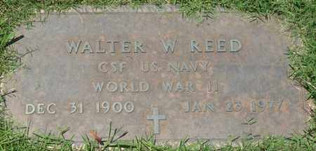 REED (VETERAN WWII), WALTER W - Osage County, Oklahoma | WALTER W REED (VETERAN WWII) - Oklahoma Gravestone Photos