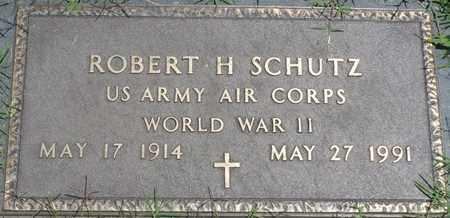SCHUTZ (VETERAN WWII), ROBERT H - Osage County, Oklahoma | ROBERT H SCHUTZ (VETERAN WWII) - Oklahoma Gravestone Photos