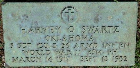 SWARTZ (VETERAN WWII), HARVEY G - Osage County, Oklahoma   HARVEY G SWARTZ (VETERAN WWII) - Oklahoma Gravestone Photos