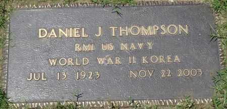 THOMPSON (VETERAN WWII-KOR), DANIEL J - Osage County, Oklahoma | DANIEL J THOMPSON (VETERAN WWII-KOR) - Oklahoma Gravestone Photos