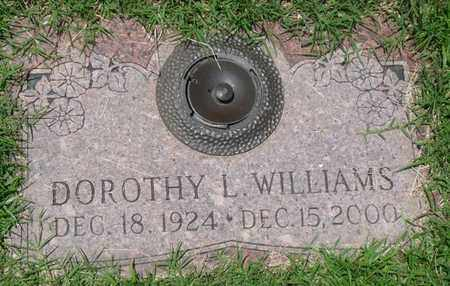 WILLIAMS, DOROTHY L - Osage County, Oklahoma | DOROTHY L WILLIAMS - Oklahoma Gravestone Photos