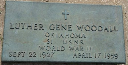WOODALL (VETERAN WWII), LUTHER GENE - Osage County, Oklahoma | LUTHER GENE WOODALL (VETERAN WWII) - Oklahoma Gravestone Photos