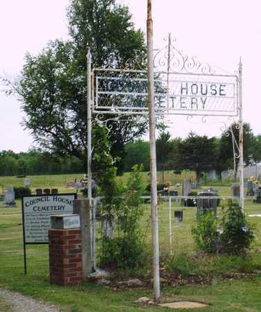 *, COUNCIL HOUSE CEMETERY SIGN - Ottawa County, Oklahoma   COUNCIL HOUSE CEMETERY SIGN * - Oklahoma Gravestone Photos