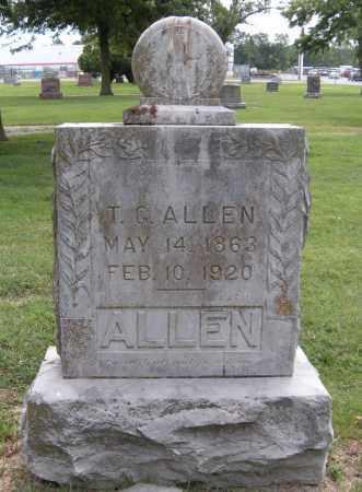 ALLEN, T G - Ottawa County, Oklahoma | T G ALLEN - Oklahoma Gravestone Photos