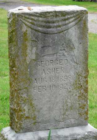 ASHER, GEORGE D - Ottawa County, Oklahoma | GEORGE D ASHER - Oklahoma Gravestone Photos