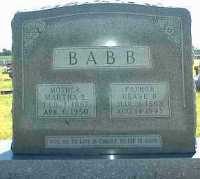 BABB, MARTHA E. - Ottawa County, Oklahoma   MARTHA E. BABB - Oklahoma Gravestone Photos