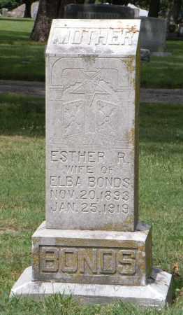 BONDS, ESTHER R - Ottawa County, Oklahoma | ESTHER R BONDS - Oklahoma Gravestone Photos