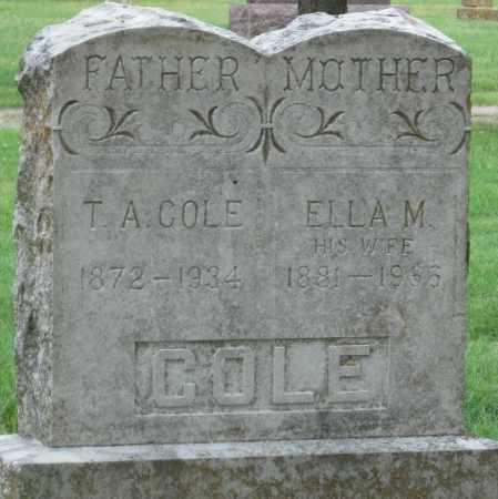 COLE, ELLA M - Ottawa County, Oklahoma | ELLA M COLE - Oklahoma Gravestone Photos