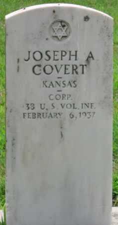 COVERT (VETERAN SAW), JOSEPH A - Ottawa County, Oklahoma   JOSEPH A COVERT (VETERAN SAW) - Oklahoma Gravestone Photos