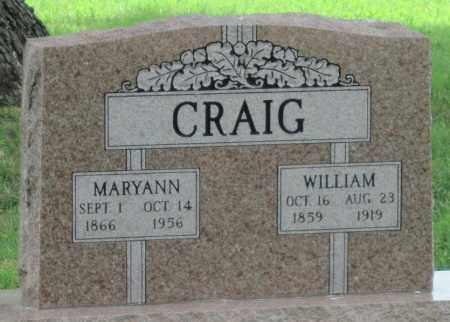 CRAIG, WILLIAM - Ottawa County, Oklahoma | WILLIAM CRAIG - Oklahoma Gravestone Photos