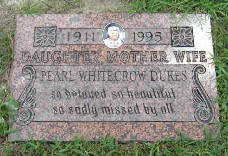 DUKES, PEARL WHITECROW - Ottawa County, Oklahoma   PEARL WHITECROW DUKES - Oklahoma Gravestone Photos