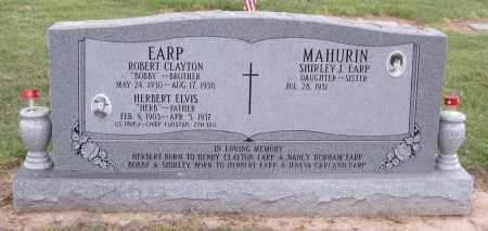 EARP (VETERAN WWI), HERBERT ELVIS - Ottawa County, Oklahoma | HERBERT ELVIS EARP (VETERAN WWI) - Oklahoma Gravestone Photos