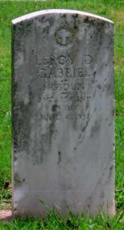 GABRIEL (VETERAN WWI), LEROY D - Ottawa County, Oklahoma | LEROY D GABRIEL (VETERAN WWI) - Oklahoma Gravestone Photos