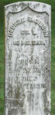 GIBSON (VETERAN UNION), GEORGE B - Ottawa County, Oklahoma   GEORGE B GIBSON (VETERAN UNION) - Oklahoma Gravestone Photos