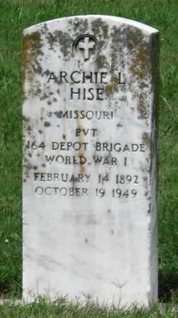 HISE (VETERAN WWI), ARCHIE L - Ottawa County, Oklahoma | ARCHIE L HISE (VETERAN WWI) - Oklahoma Gravestone Photos
