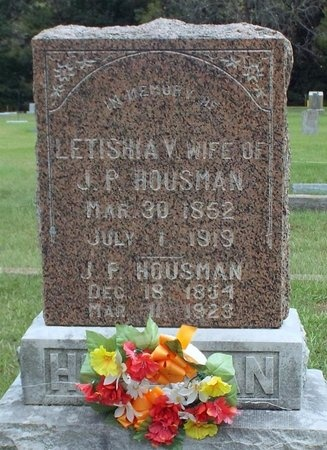 HOUSMAN, JOHN PETER - Ottawa County, Oklahoma | JOHN PETER HOUSMAN - Oklahoma Gravestone Photos