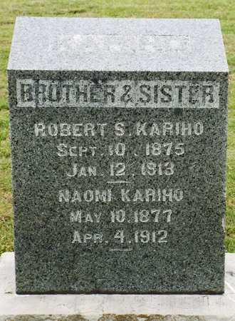 KARIHO, NAOMI - Ottawa County, Oklahoma | NAOMI KARIHO - Oklahoma Gravestone Photos