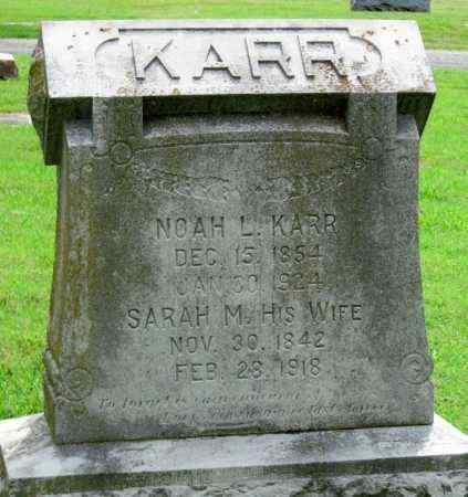 KARR, NOAH L - Ottawa County, Oklahoma | NOAH L KARR - Oklahoma Gravestone Photos