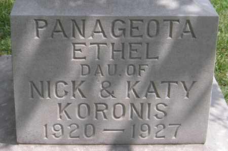 KORONIS (CLOSE UP), PANAGEOTA ETHEL - Ottawa County, Oklahoma | PANAGEOTA ETHEL KORONIS (CLOSE UP) - Oklahoma Gravestone Photos