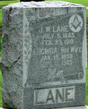 LANE, J. W. - Ottawa County, Oklahoma   J. W. LANE - Oklahoma Gravestone Photos